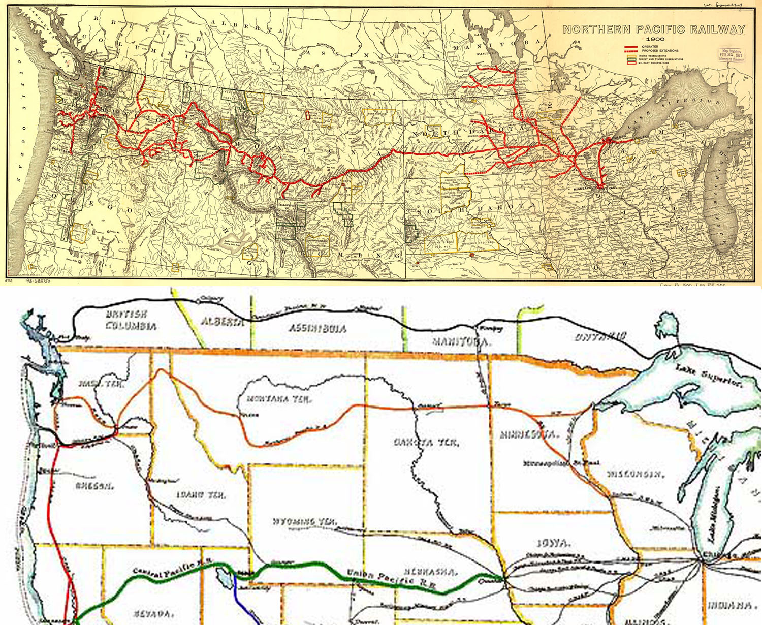 Excellent Minnesota Railroad Map Swimnovacom - Map of us railroads in 1900