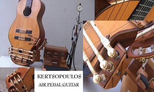 The Kertsopoulos Pneumatic Foot Pedal Guitar