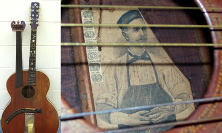 A Custom Bohmann Harp Guitar