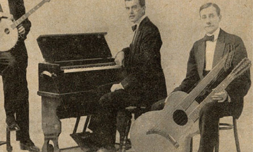 George Dudley and His 36-string Harp Guitar