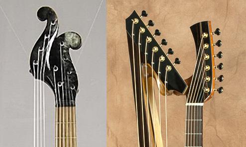 Harp Guitar Modern Art: Then and Now