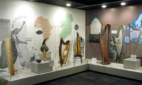 Museum of Making Music Harp Exhibit