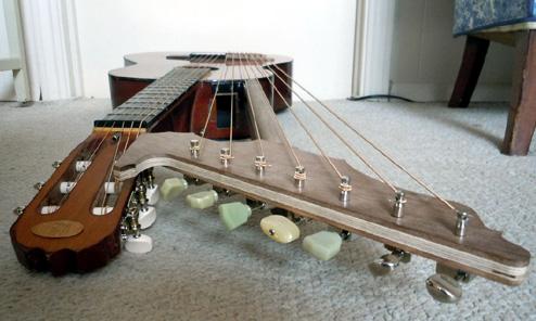 Kinloch Builds a Harp Guitar…