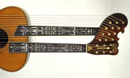 What's More Outrageous than a Harp Guitar with a Tree-of-Life Fingerboard?