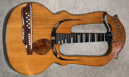 100 Years Later, the Martin Improved Reproduction Schenk Harp Guitar!