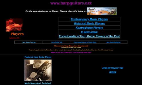 Harp Guitar Players Page Overhaul