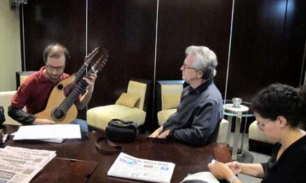 Massimo Traffano and the Brahms-Harp Guitar