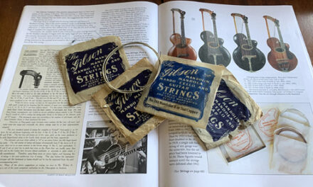 Early Gibson Guitar Strings By Way of the Harp Guitar
