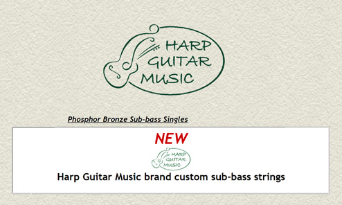 New Harp Guitar Music Sub-Bass String Line is In Stock!